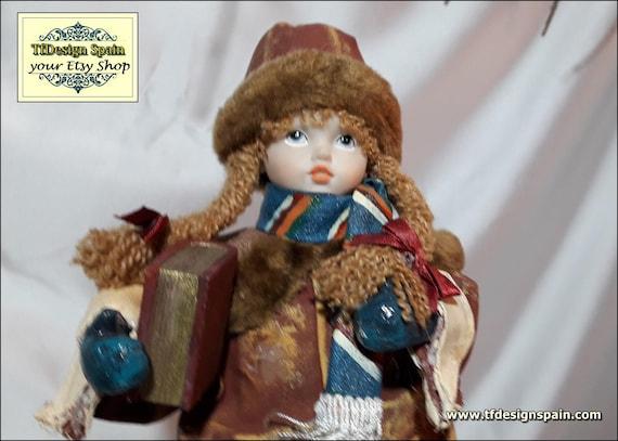 Figura niña libro, Figura niña vintage, Figura niña escuela, Figura niña para decorar, Figura niña colección, Figura niña vintage regalar