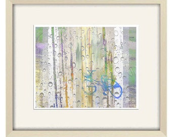 bicycle art, bicycle print, abstract art, boy wall art, bicycle decor teen boy gift, Sports art sport print boys room decor modern art print