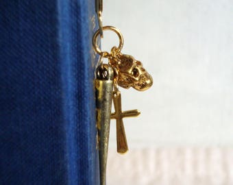 Spike, Skull and Cross Bookmark