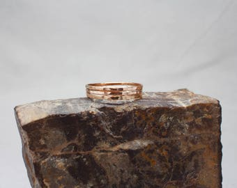 Thin Rose Gold Stacking Rings - 14k Rose Gold Filled Stackable rings, 14k stacking rings, skinny ring set, gift idea for her