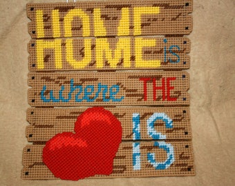 Home is where the heart is fence wall hanging