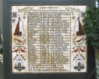 Garden Vegetables by Carriage House Samplings Counted Cross Stitch Pattern/Chart