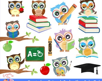 School Owls clipart Graduation Owls Back to School Owls
