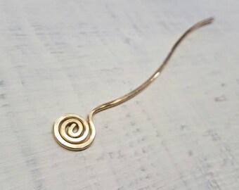 Gold Spiral Hair Stick