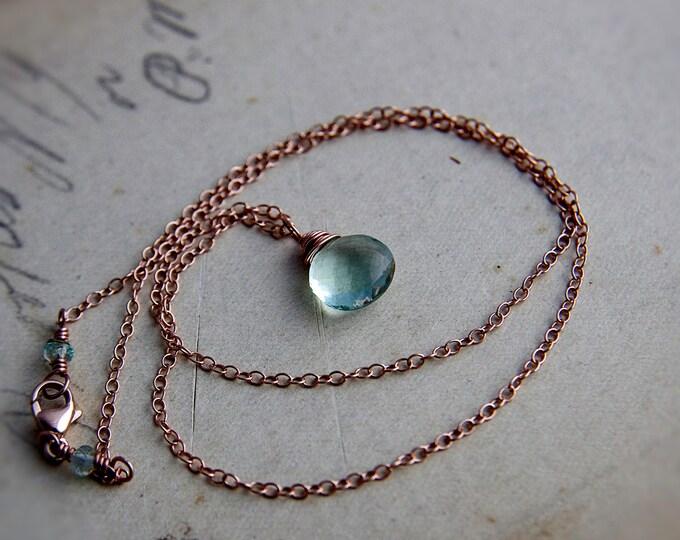 Fine Jewelry, Gemstone Pendant, 14K Rose Gold, Fluorite Necklace, Fluorite, Pendant, Rose Gold Necklace, Anniversary Gift