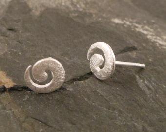 925 Sterling Silver spiral earrings,stud earrings