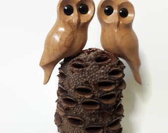 Owl wood carving wedding gift for couple gift for anniversary gifts for her anniversary gift for him rustic wood gift romantic gift