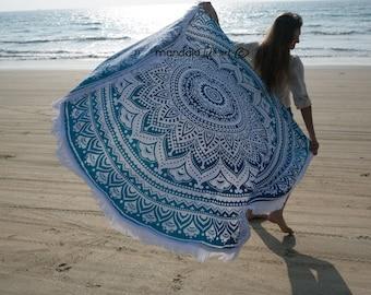Mandala Beach Sheet Mandala Roundie Mandala Picnic Towel Beach Throw Circle Beach Towel Bohemian Towel