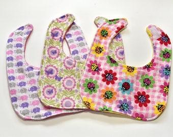 Cute Baby Girl Bibs Handmade Baby Bib Set Baby Shower Gift Flower Baby Bib Baby Items Bibs