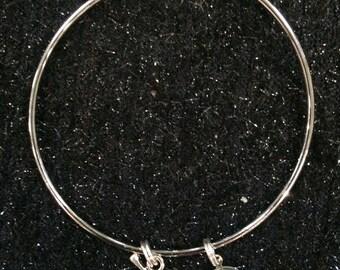 Graduation Bullet bracelet 9mm ammo charm bracelet handgun silver tone Gun Tote'n Girl jewelry