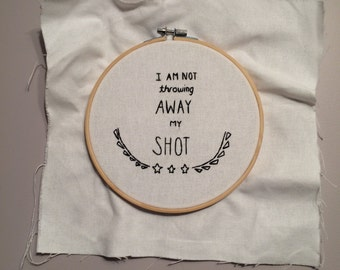 Hamilton Musical Embroidery
