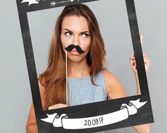 FULLY PRINTED Chalkboard Style Selfie Frames