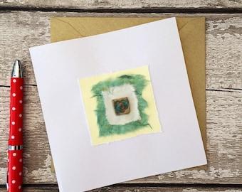 Hand made card, bespoke ceramic gift card, wedding, birthday, anniversary, Mother's Day,