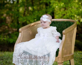 Christening Gown,  Baptism Dress,  Baptism Dress for baby girl, christening gowns, baptism, baptism gown, baptism dresses, lace christening
