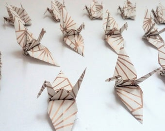 Lots of origami cranes: Gold Collection