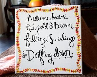 Home Decor: Fall Poem Sign