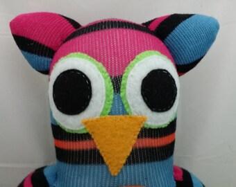 Custom Handmade Sock Owl