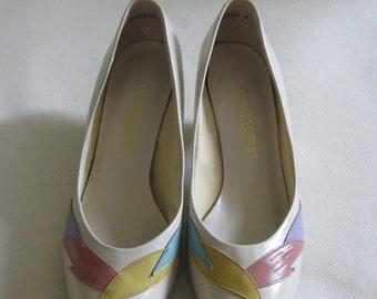 Vintage Socialities Pastel Feather Heels