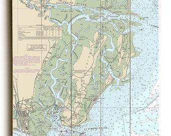 GA: St. Simons Island, GA Nautical Chart Sign