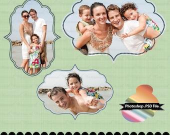 Photoshop frame PSD photographer clip art for invitations digital frame : e0128