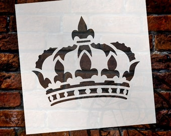 Queen Crown - Art Stencil - Select Size - STCL1126 - by StudioR12