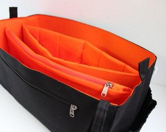XXL Bag organizer for Louis Vuitton Keepall 55 - Purse organizer insert with zipper and laptop divider