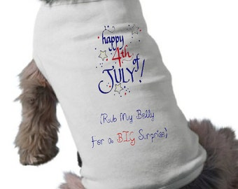 I'm Going To Be A Big Brother Dog Shirt - Dog T-Shirt - Fourth of July Pregnancy Announcement Dog Shirt - 4th of July Dog Shirt