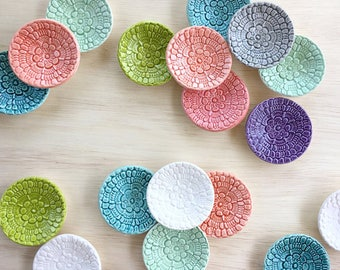 MADE TO ORDER: Ceramic Ring Dish, Engagement Ring Dish, Wedding Ring Dish, Bridesmaid Ring Dish, Jewelry Dish, Handmade Ring Dish