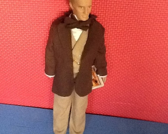 Rhett Butler Doll from the Motion Picture Gone With The Wind. Circa 1989. Movie Figure Male Doll. Compares in size to Barbie Doll.