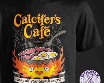 Calcifer's Cafe - Howl's Moving Castle Themed T-shirt