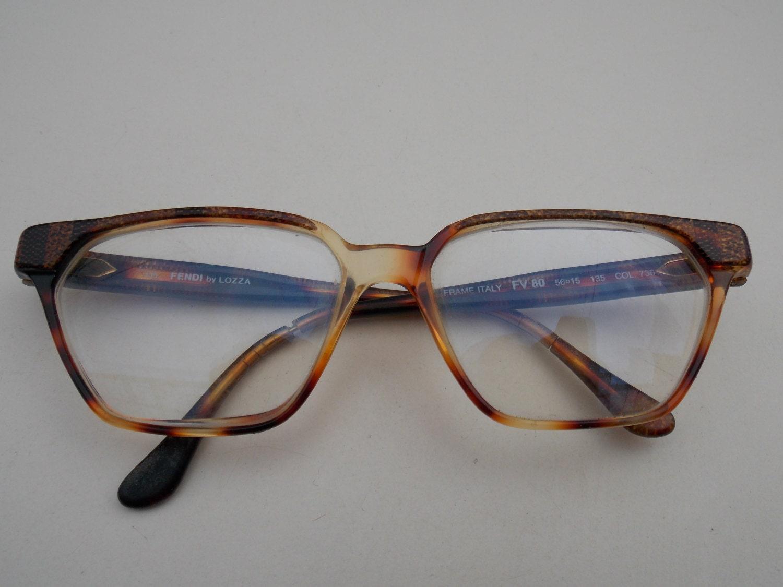 Fendi por gafas Lozza gato hecho en Italia claro lente marco