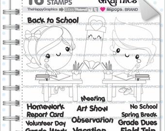 School Stamp 80OFF Commercial Use Digi Digital Image
