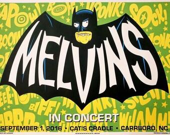 Melvins hand printed silkscreen concert poster.