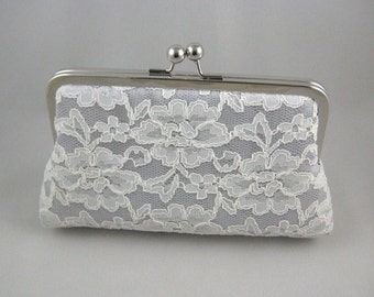 Ivory Bridal Clutch | Ivory Wedding Clutch | Ivory Lace Clutch | Bridal Clutch