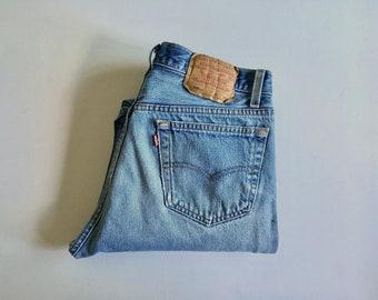 Vintage Men's 80's Levi's 501XX, Blue Jeans, Red Tab, Denim (W32)