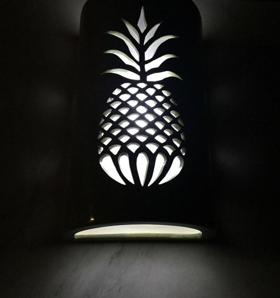 Outdoor Pineapple Lights Pineapple wall sconce outdoor wall light tropical decor workwithnaturefo