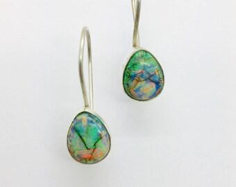 Monarch Opal Earrings, Sterling Opal Earrings, Opal Earrings,Monarch Opal Jewelry, Opal jewelry