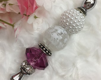 Orchid & Lace Beaded Letter Opener, Fancy Letter Opener, Pretty Letter Opener, Charming Letter Opener, Lacy Letter Opener