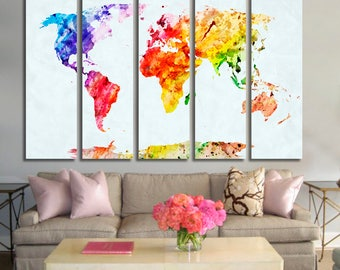 World map wall art etsy gumiabroncs Images