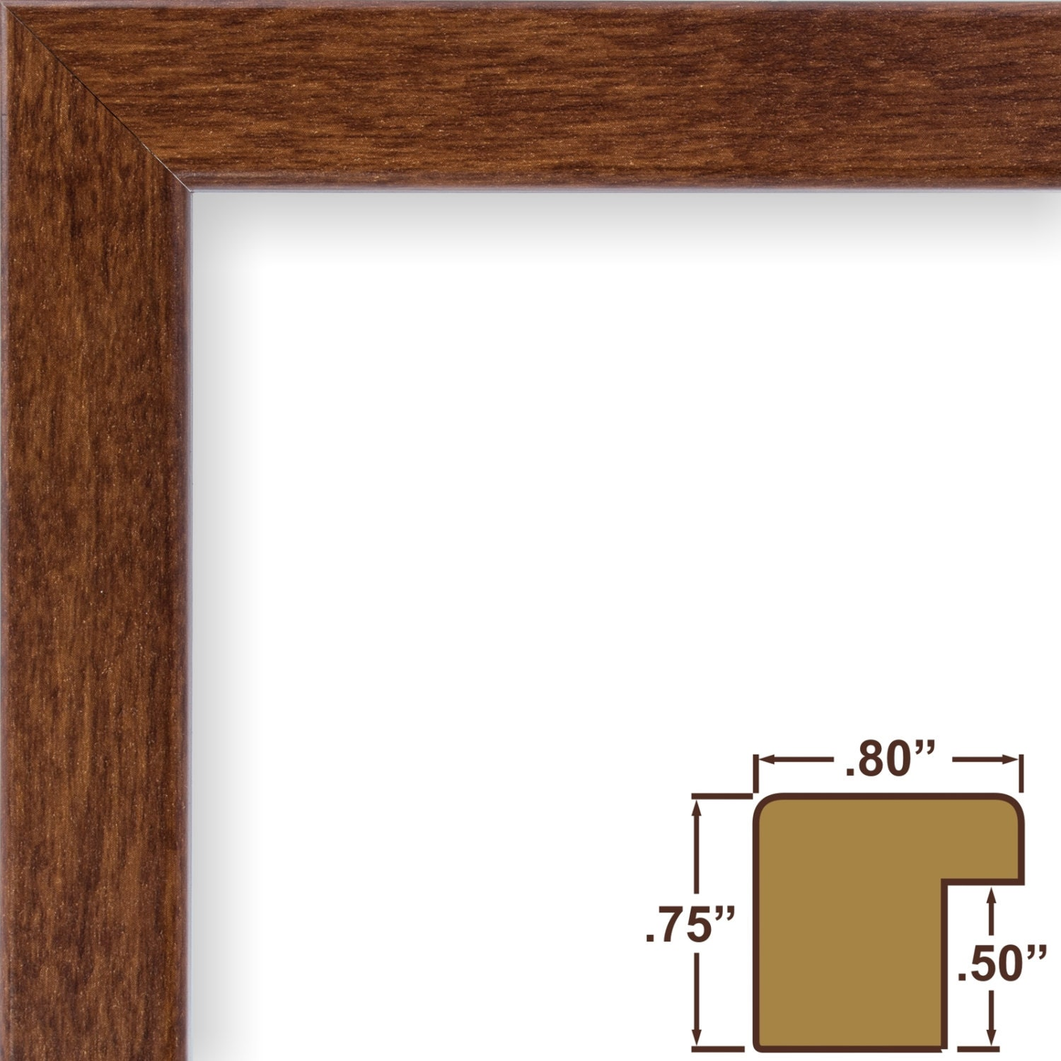Craig frames 20x20 inch modern canadian walnut picture frame 2499 jeuxipadfo Image collections
