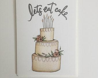 Lets Eat Cake greeting card