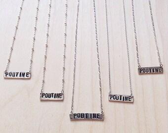 POUTINE necklace