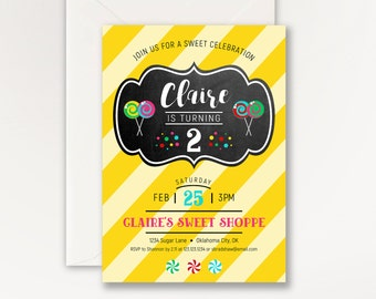 Sweet Shoppe Party Invitations