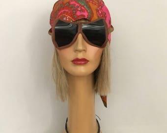 Vintage Accessories / Antique Flight Goggles / Aviator Goggles / 1930's Aviator 's Goggles / Vintage Airplane Attire