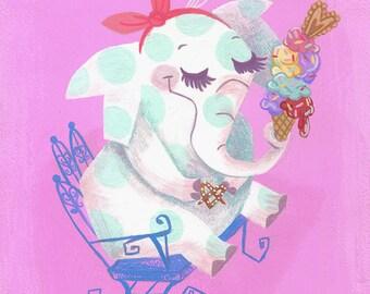 Polka dot Elephant by Neysa Bové
