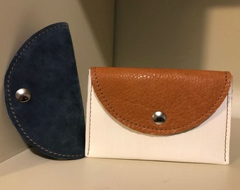 Leather wallet, leather credit card wallet. Handmade leather wallet.
