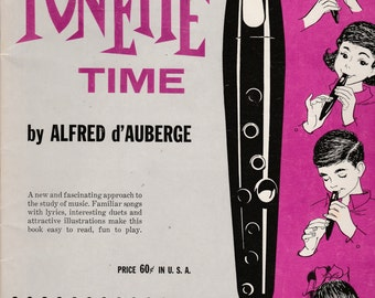 Vintage It's Tonette Time 1961 Alfred Music Book