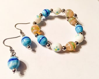 Easter Egg memory wire bracelet set