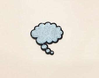 Dialog cloud patch  - patch, patch for jacket, patch applique, cool patch, patch embroidery, cartoon patch, cute patch, patch denim jacket