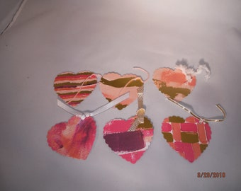 LOT of 6 Doublesided Heart Tags -- DreamscapesByCyn